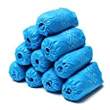 Amazqi Shoe Covers Disposable, 200 Pack (100 Pairs) Non-Woven Booties for Shoe Covers Non Slip Durable Shoes Covers for Indoor Home, Floors,Carpet and Shoes Protector Covers