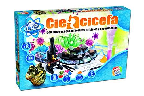 Cefa Toys- Ciencicefa 4 en 1 química, Cristales, microscopi