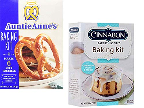 Auntie Anne's and Cinnabon Make Your Own Baking Kit Variety Pack (2 Pack)