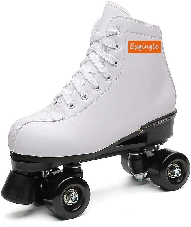 Adult Roller Skates High Top Indoor Outdoor Quad Skates