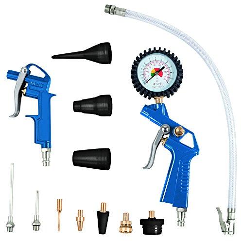 Scheppach 7906100710 Compressor accessoireset, blauwzwart/zilvergoud