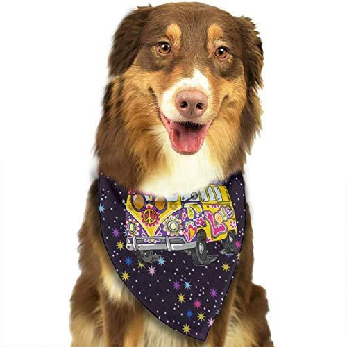 FunnyStar Hond Bandana Hippie Bus Vrede & Liefde Sjaals Accessoires Decoratie voor Huisdier Katten en Puppies