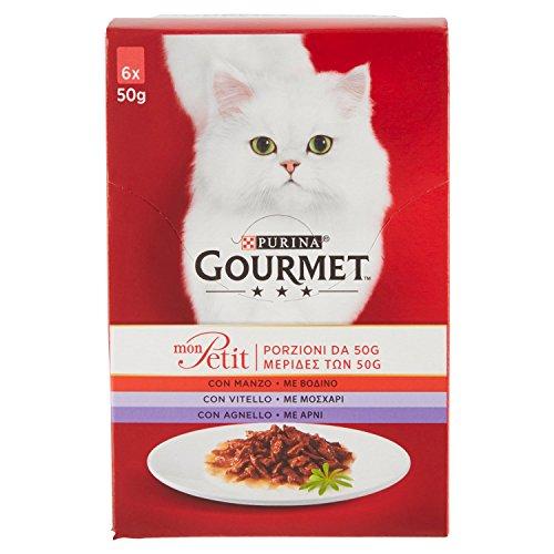 Sheba Gourmet Mon Petit 6X50 Gr.Carni Rosse 200 ml