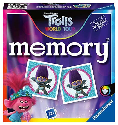 Ravensburger Memory Trolls 3 - Juego Memory, 72 tarjetas, Edad recomendada 4+...