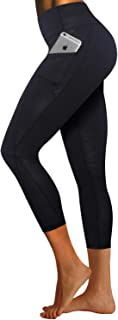 """BUBBLELIME 26"""" Inseam High Compression Yoga Pants Out Pocket Running Pants High Waist UPF30+"""