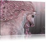 wunderbares Einhorn, Format: 120x80 auf Leinwand, XXL