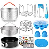 17 Pcs Instant Pot Accessories 6,8 Qt Pressure Cooker Accessories Steamer Basket, Springform Pan, Silicone Egg...