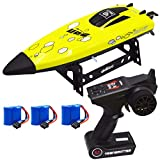 Blomiky UD08 2.4GHz 25KM/H High Speed RC Boat for Lakes Pool and River Extra 2 Battery UDI008