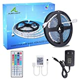 ALED LIGHT LED Strip RGB 5M SMD 5050 150 LEDs LED Streifen, LED Band, 12V Netzteil & 44 Key...