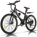 VIVI Elektrofahrrad Herren 26 Zoll Mountainbike mit 350W Motor,Abnehmbare 36V/8Ah Batterie /21-Gang-Getriebe/Höchstgeschwindigkeit 32km/h/Kilometerstand Aufladen Bis zu 40km