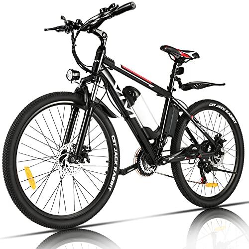 VIVI Vélo Électrique Adulte Vélo de Montagne 26' avec Moteur 250W, Batterie 36V/8Ah Amovible/Engrenages 21 Vitesses de Recharge Jusqu'à 40km