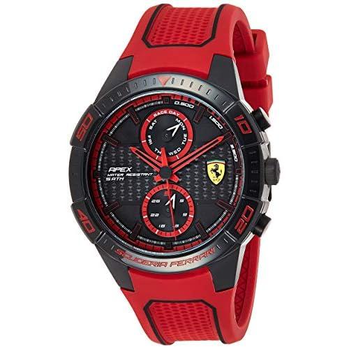 Ferrari Orologio Multi-quadrante Quarzo Uomo con Cinturino in Gomma 830639