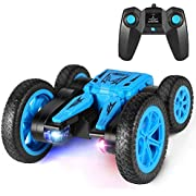 Tg-one Remote Control Car, Durable RC Stunt Cars Toys for Kids, Double Sided Rotating 360°Flips with Dual-Color Headlights- Toy Gifts for 2, 3, 4, 5, 6, 7, 8 Year Old Boy