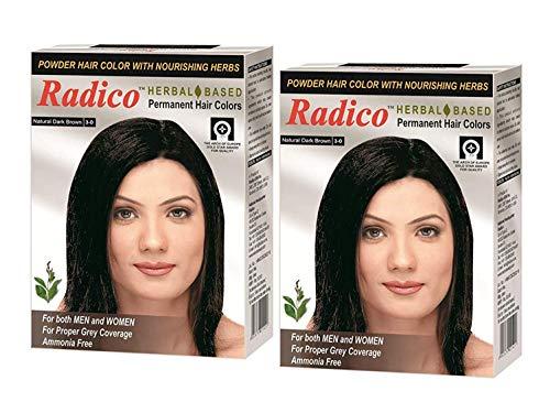 Radico Herbal Based Dark Brown Hair Color - Ammonia Free - Twin Pack