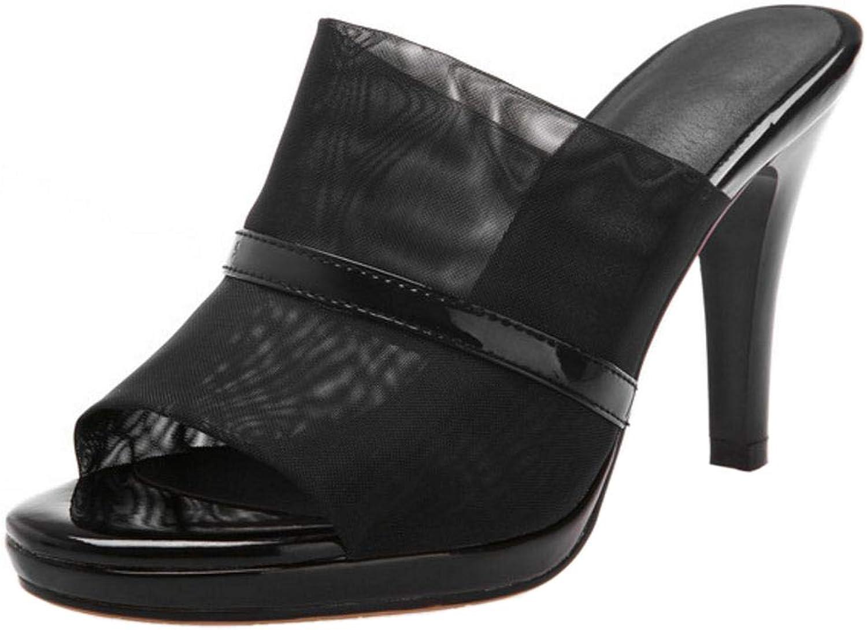 FANIMILA Women Fashion Stiletto Heels Summer shoes Breathable Mesh