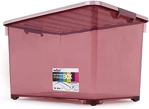 Storage Storage Box Transparent Storage Box Plastic Covered Storage Box raw Materials a Box Multi-Purpose,64L