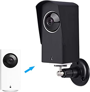 Wyze Cam Pan Silicone Case with Wall Mount Bracket, Wyze Cam Wall Mount Set Protective Adjustable for Indoor and Outdoor A...