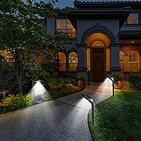 4-Pack T-SUN Waterproof 2-in-1 Outdoor Solar Path Lights