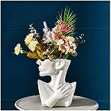 WQQLQX Statue Kopfstatue Blumentopf Sculpture Keramik Büste Home Garten Dekoration Zubehör Bonsai Kunst Indoor Outdoor Crafts Figuren Glücksgeschenke Skulpturen (Color : I)