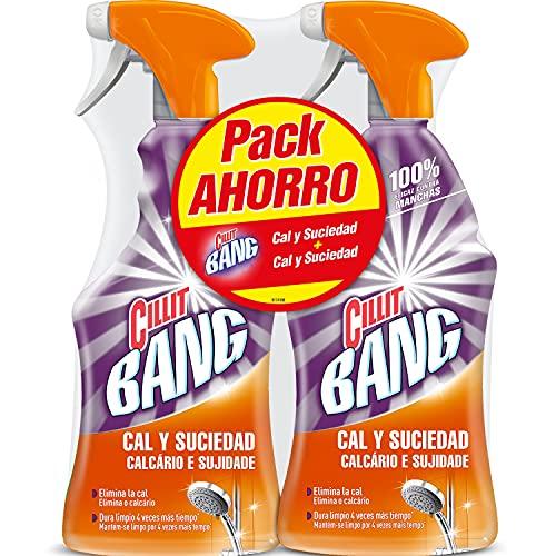 CILLIT Bang - Spray Limpiador Cal y Suciedad, para Baños