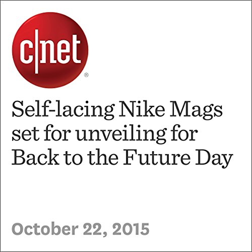 Self-lacing Nike Mags set for unveiling for Back to the Future Day audiobook cover art