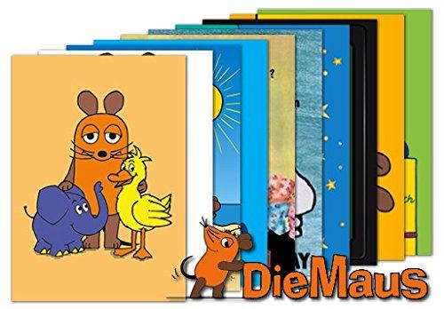 10er-Set: Postkarten A6 +++ MIX SET Nr. 1 von modern times +++ 10 SENDUNG MIT DER MAUS-Motive +++