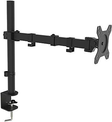 WAYTEX Bras articulé 1 écran Fixation Pince Bureau, 480 x 600 x 120 mm