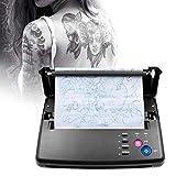 InLoveArts Máquina de transferencia de tatuajes Impresora de plantillas de tatuajes Máquina fotocopiadora térmica con 10 piezas de papel de transferencia térmica de tatuajes y 500 patrones digitales