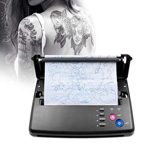 InLoveArts Tattoo Transfer Machine, Stampante per stencil per tatuaggiFotocopiatrice termica con 10 pezzi di carta transfer termica per tatuaggi e 500 modelli digitali, kit tattoo machine