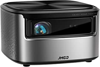 JMGO N7 Native 1080P Full HD 4K Projector, 1300 ANSI lm, HDR 10, Auto Focus, Keystone Correction,DLP, Dolby, 3D, WiFi, Bluetooth Speaker, Smart Home Cinema Video Projector, 300
