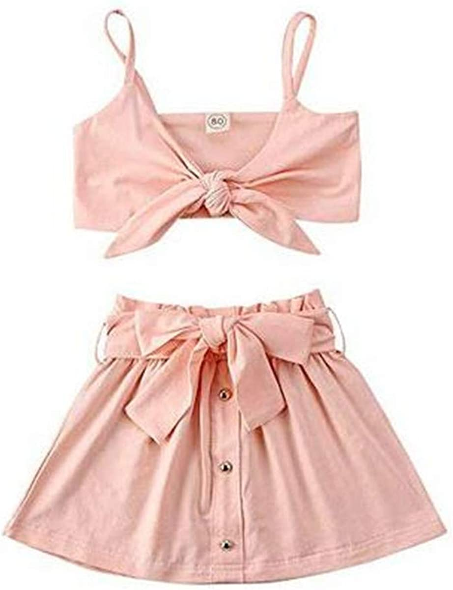 Toddler Girls Short Skirts Outfits Off Plain Crop Top Halter M Year-end gift + Directly managed store
