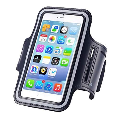 VORCOOL Handy Arm Gürtel Setzt Handy Arm Tasche Band Paket Outdoor Sports Laufausrüstung Aufbewahrungstasche (schwarz)
