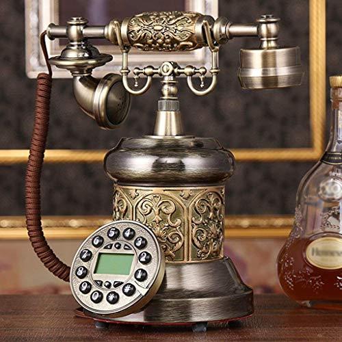 LDDZB Teléfono antiguo Europeo Pastoral Retro Teléfono Familia Teléfono fijo Teléfono antiguo