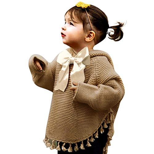 Zarupeng pasgeboren baby jongens meisjes gebreide capuchon bovendeel boog kwast lange mouwen pullover capuchon gebreide jas outfits