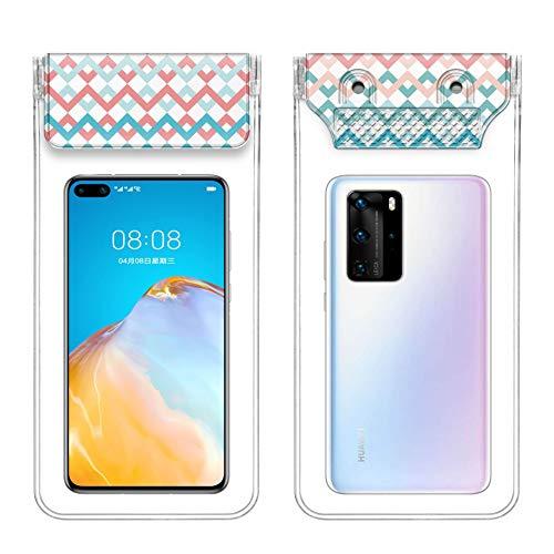 Leapfh - Funda impermeable para teléfono móvil IPX8 con bolsa de secado con cordón, compatible con iPhone 11 XS Max / XS / XR / X / 8/7 Plus bajo 7,2 pulgadas, muy adecuada para senderismo en la playa, Olas de agua
