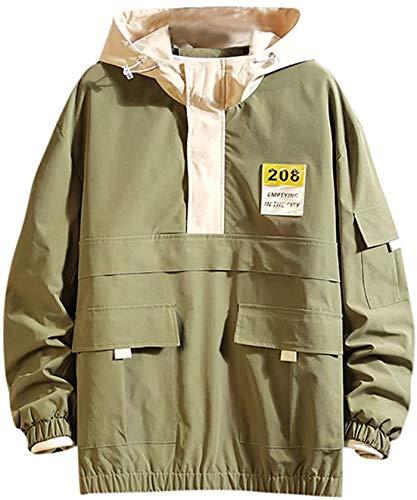 Latoshachase Fashion Jacket for Men,Clerance Trendy Fashion Loose Fit Casual Cap Plus Size Comfortable Jacket Coat