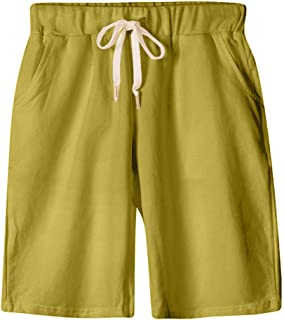 XinDao Women's Soft Knit Elastic Waist Jersey Bermuda Shorts with Drawstring