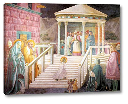 "Mary's Presentation in The Temple by Paolo Uccello - 19"" x 24"" Gallery Wrap Canvas Art Print - Ready to Hang"