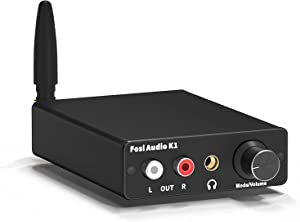 Bluetooth 5.0 DAC Headphone Amplifier Mini Stereo DAC Amp & Preamplifier 24-Bit/192 KHz USB/Optical/Coaxial to RCA AUX Digital-to-Analog Audio Converter Adapter for Home Audio System--Fosi Audio K1