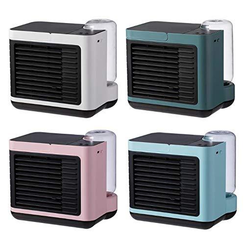 WZRY Domicile Lumière de Nuit Portable ION négatif de climatisation Ventilateur d'humidificateur Purificateur de Refroidissement de l'eau Ventilateur de Refroidissement USB (Color : Pink)