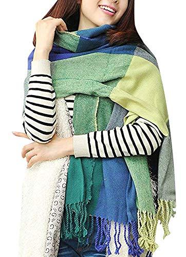 Heekpek Mujeres caliente Mantas Cozy Pashmina bufanda