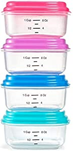 Fit & Fresh Snack N' Stack Set, 1 Cup Containers, Set of 4, x 2