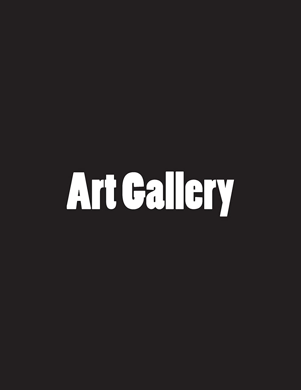 Art Gallery: Notebook Large Size 8.5 x 11 Ruled 150 Pages