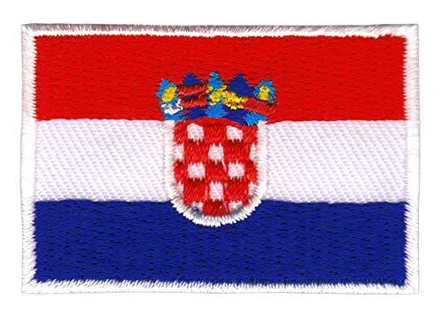 Bestellmich Kroatien Flagge Klein Aufnäher Bügelbild Größe 4,7 x 3,2 cm