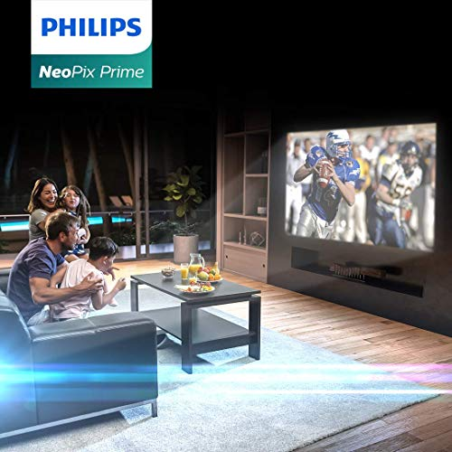 Philips NeoPix Prime Video Projector, 120 Inch Display, Wi-Fi Screen Mirroring, Bluetooth, Built-in Media Player, HDMI, USB, microSD, 3.5mm Audio Out Photo #9