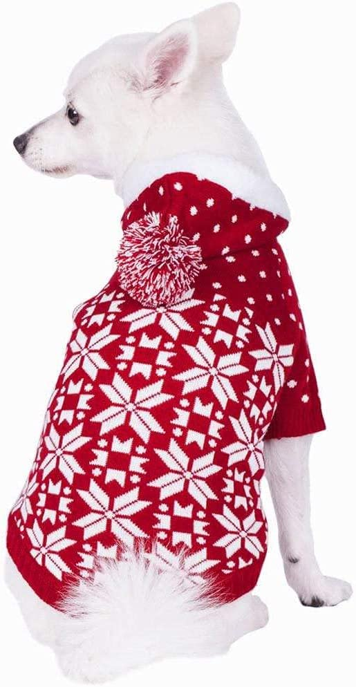 Blueberry Pet Ranking TOP8 Credence 6 Patterns Holiday Dog Festive Sweaters Snowflake