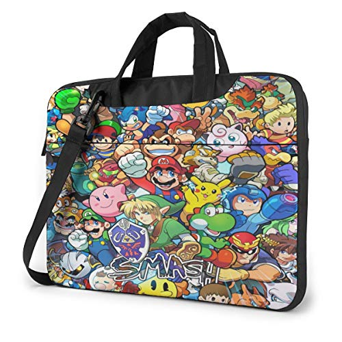 Legend of Zelda Super Mario Smash Bros Kirby Laptop Sleeve Laptop Bag Tablet Briefcase Ultraportable Protective Handbag Oxford Cloth-for MacBook Pro/MacBook Air/Notebook Computer 13 Inch