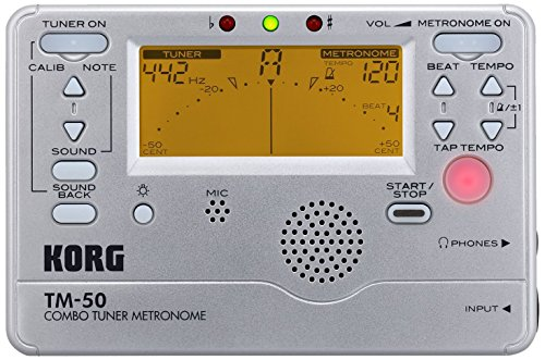 Korg TM50SL Instrument Tuner and Metronome - Silver