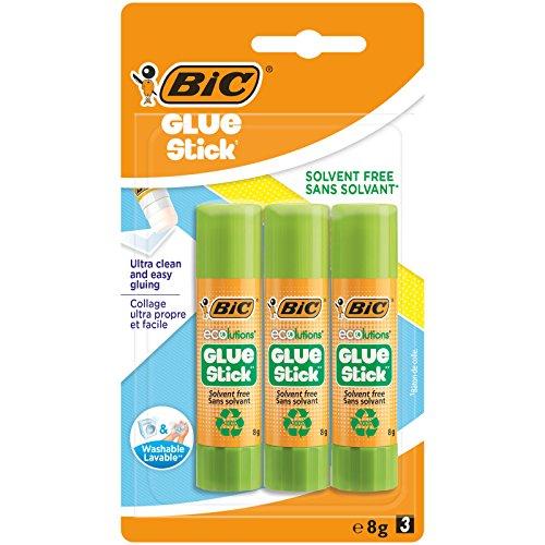 BIC ECOlutions Colle Stick - 8g, Confezione Da 3
