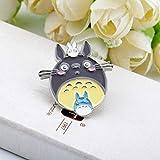 Mon voisin bande dessinée Totoro émail broches Chinchilla Denim broche dessin animé broches pour collier sac vêtements épinglette Badge cadeau Corsage